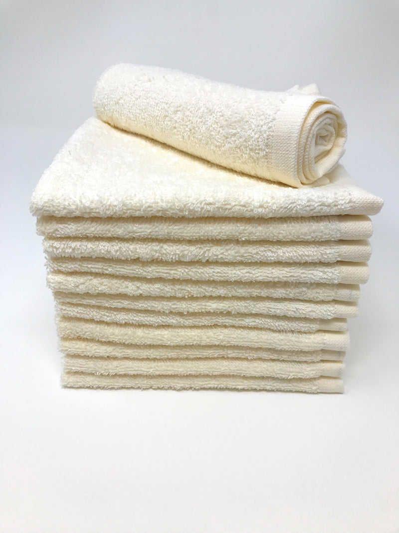 beige wash cloths