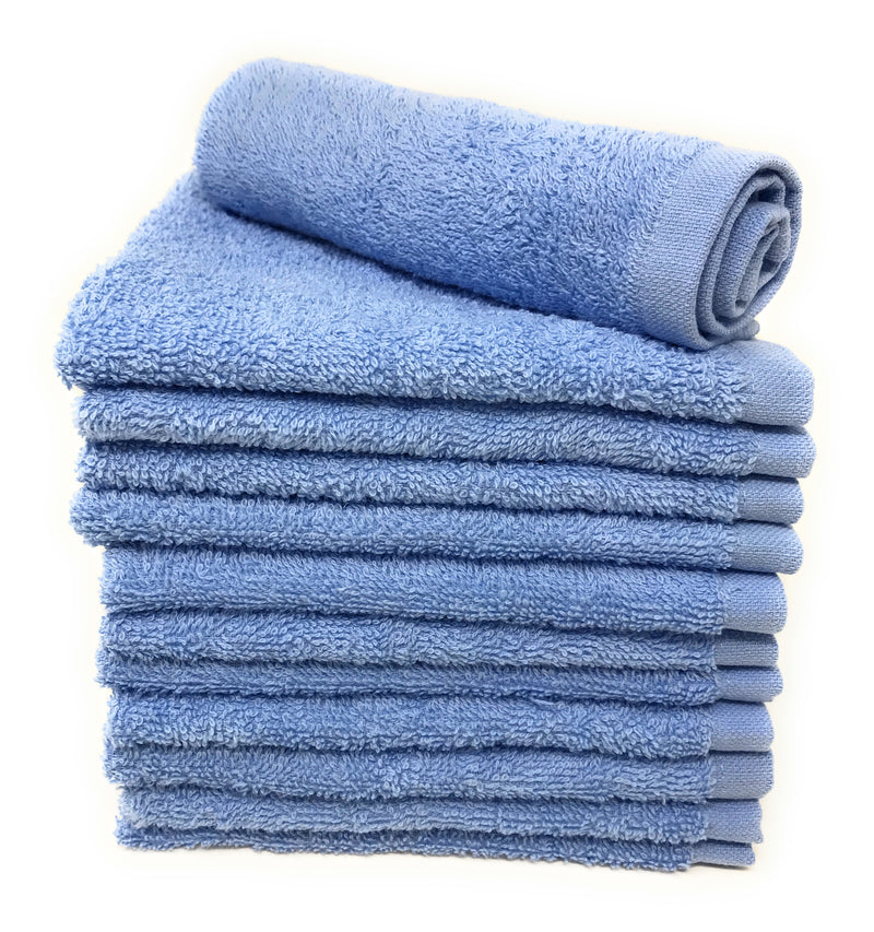 light blue washcloth