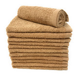 brown washcloths