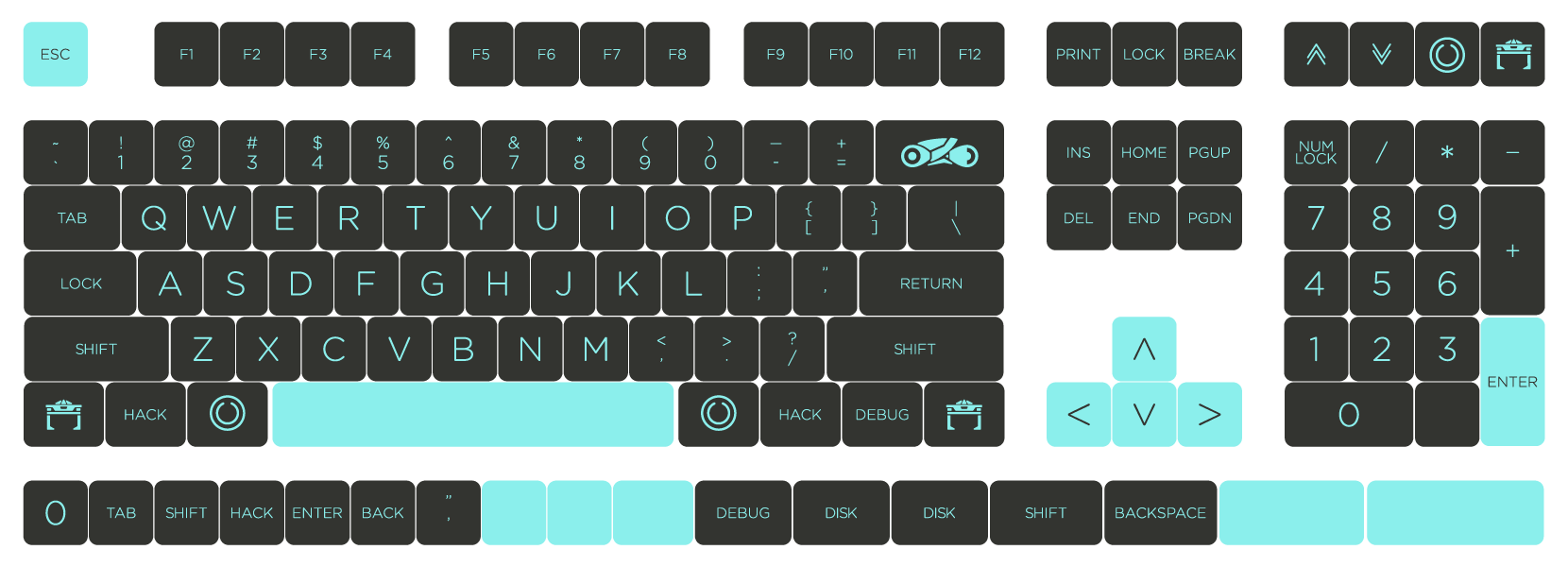 LIGHT CYCLE (Keycaps) – TheVan Keyboards