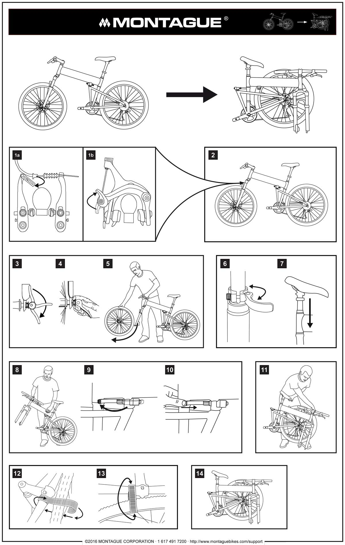 Montague Bike Folding Instructions