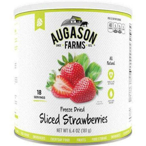 Augason Farms Emergency Food Freeze Dried Fruit Sliced Strawberries 1Can