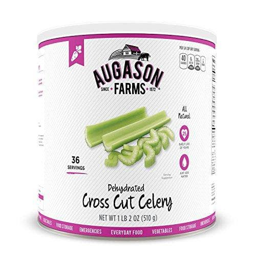 Augason Farms Dehydrated Cross Cut Celery #10 Can, 18 oz
