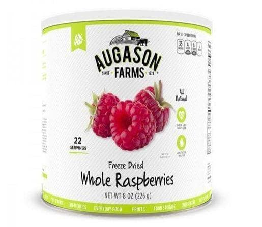 Augason Farms WHOLE RASPBERRIES #10 Can (8oz) 22 Serv Emergency, 3 Pack