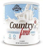 Augason Farms Country Fresh 100% Real Instant Nonfat Dry Milk Emergency Food #10
