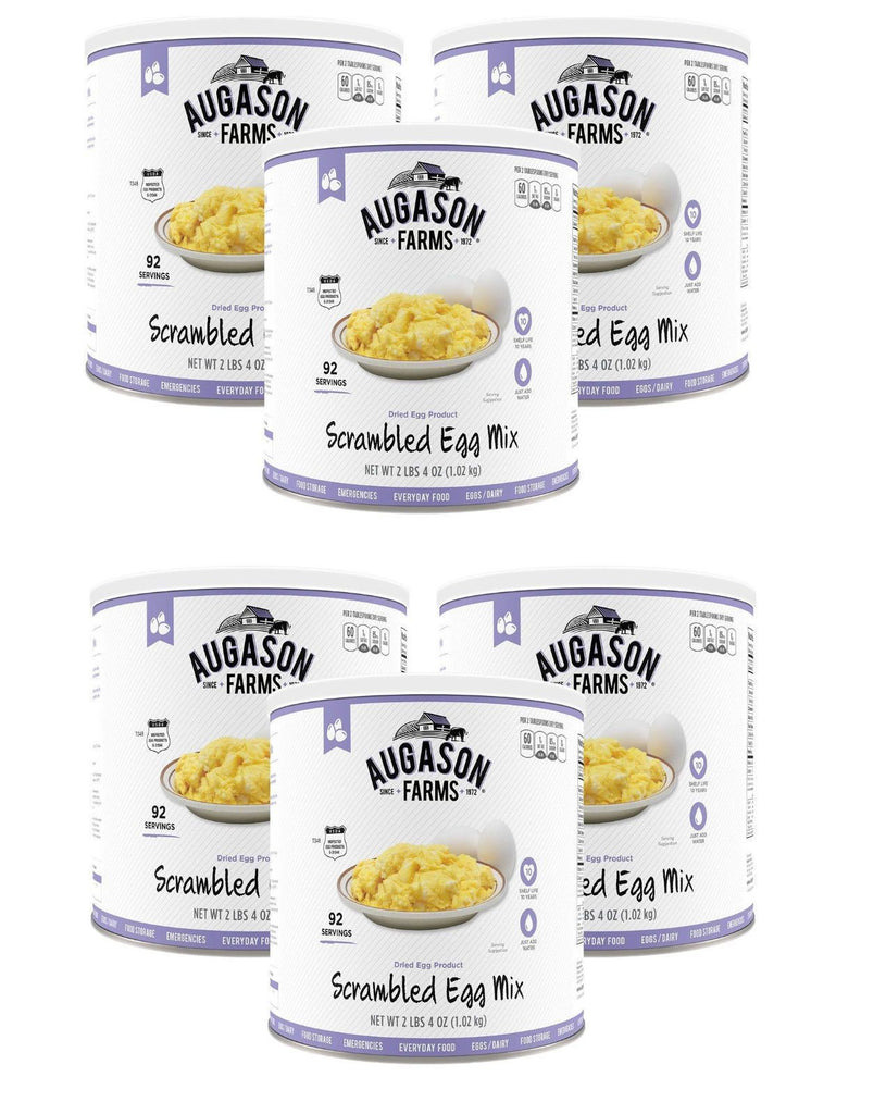 Augason Farms Dried Scrambled Egg Mix, 92 serving each, 6 Cans Free Shipping