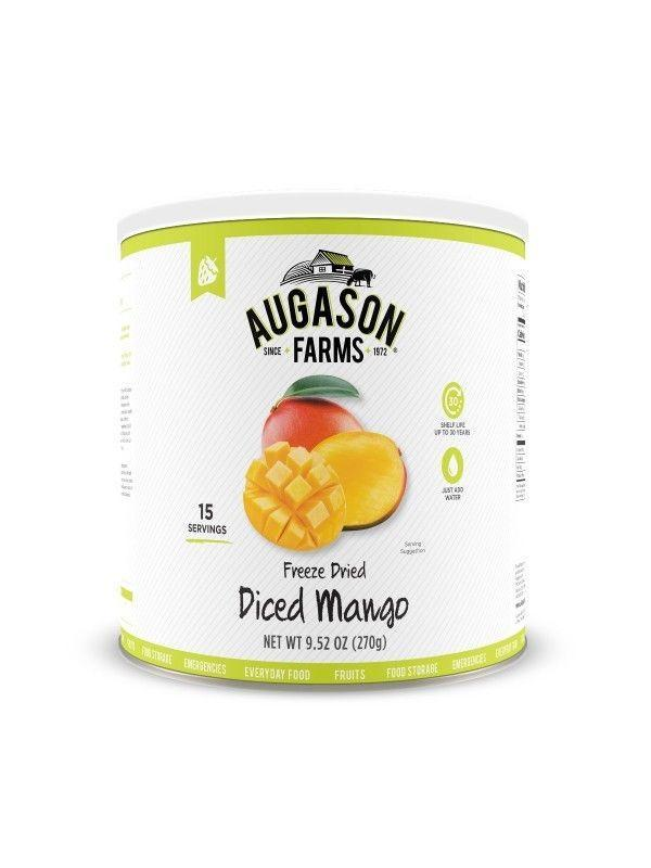 Augason Farms Freeze Dried Diced Mango 9. 52 Oz No. 10 Can, Free Shipping