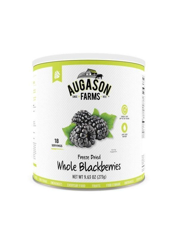 Augason Farms Freeze Dried Whole Blackberries 9. 63 oz No. 10 Can, Free Shipping
