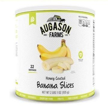 Augason Farms Honey Coated Banana Slices (Pack Of 1), Free Shipping