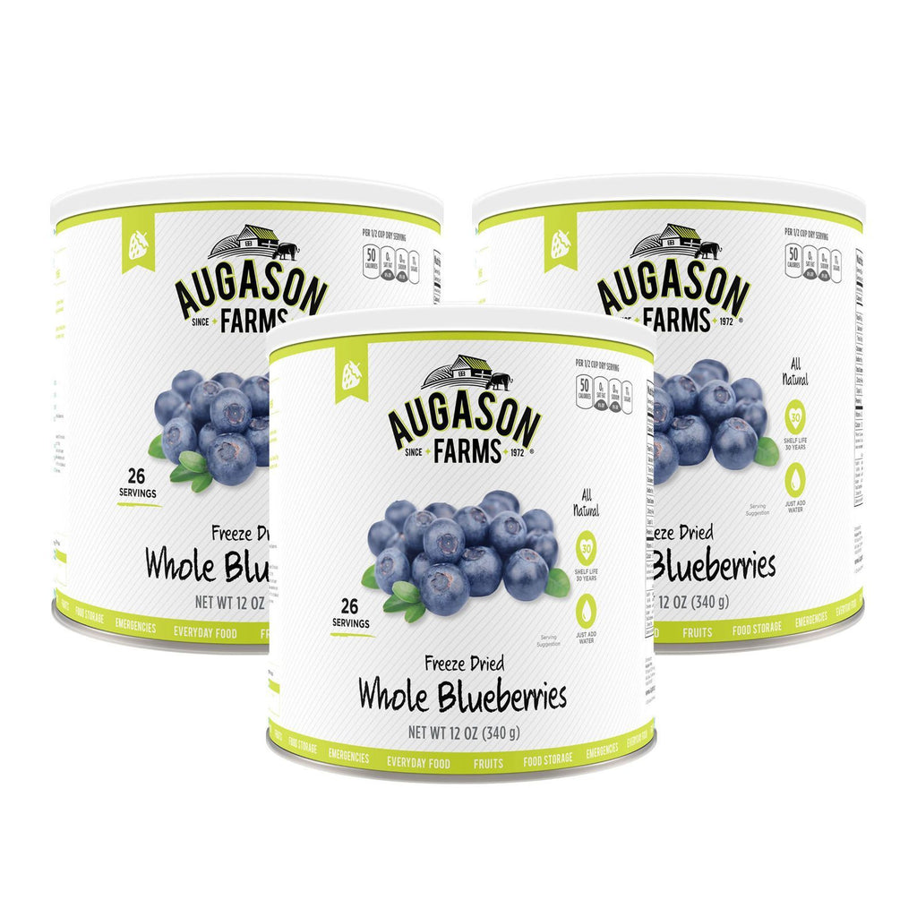 Brand NEW Augason Farms Freeze-Dried Whole Blueberries #10 Can 3 pk./12 oz.
