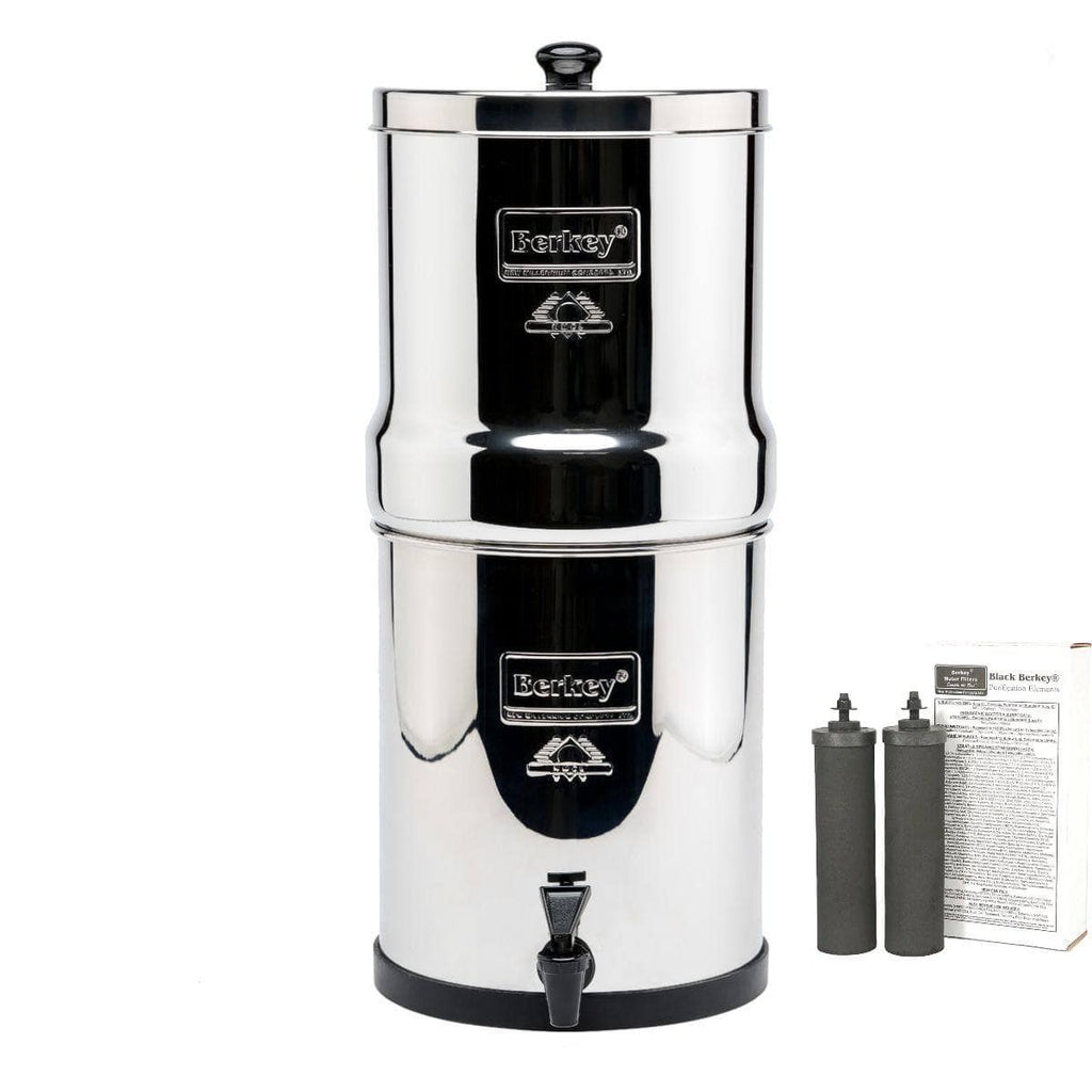 Big Berkey Water Filtration System with 2 Black Filters
