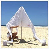 Cool Cabanas Cool Cabanas- Crisp White with Cotton Poly Canvas Fabric,50+ UV protection