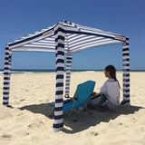 Cool Cabanas UPF 50 cotton poly canvas,50+ UV protection,8 pocket,Navy Color
