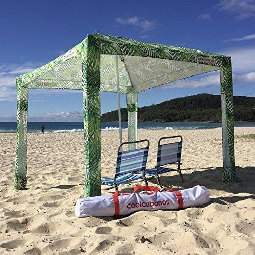 Cool Cabanas tents Cool Cabanas UPF 50 cotton poly canvas - Under The Palms - NEWLY LAUNCHED