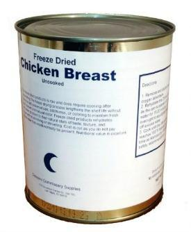 Crescent commissary Storage Food Freeze Dried Whole Chicken Breast Can