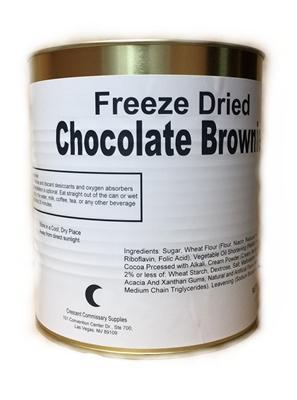 Crescent commissary Storage Food Military Surplus Freeze Dried Chocolate Brownies