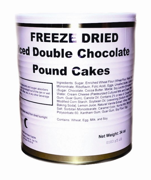 Crescent commissary Storage Food Military Surplus Freeze Dried Iced Double Chocolate Pound Cakes
