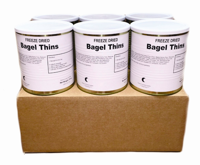 Military Surplus Freeze Dried Military Surplus Bagel Thins