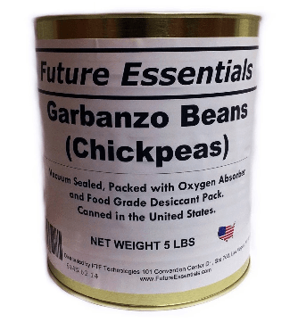 Future Essentials Garbanzo Beans. (case of 6 cans)