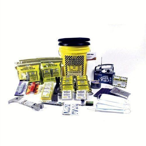 Mayday Emergency kits Fire Hazard Emergency Kit 4-Person Deluxe HoneyBucket Survival Emergency By Mayday
