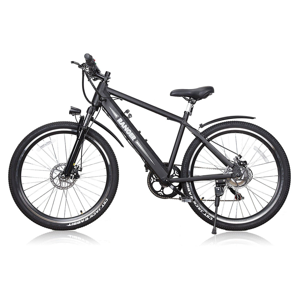 Nakto Ranger 26 Inch 350W Rear Hub Brushless Motor And 36V 10 Ah Aluminum Mountain Electrical Bicycle Electric Folding Mountain Bike, Folding Electrical Bicycles for Adults, Folding Bicycle, Folding EBike - Black