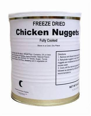 Canned Meat. Dehydrated Canned Meat for Long Term Food Storage and Emergency Preparedness Kits. (Chicken Nuggets)
