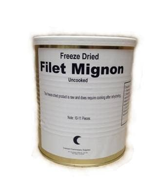 Military Surplus Freeze Dried Filet Mignon Steaks can