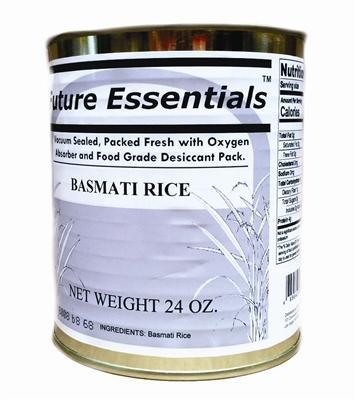 Safecastle Future Essentials Basmati Rice 1 Case of 12 Cans Best of INDIA