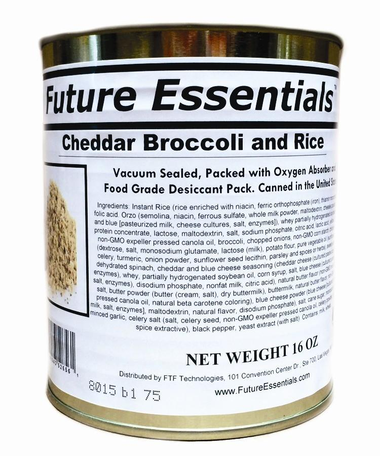 Safecastle Future Essentials Cheddar Broccoli and Rice 1 Case of 12 Cans