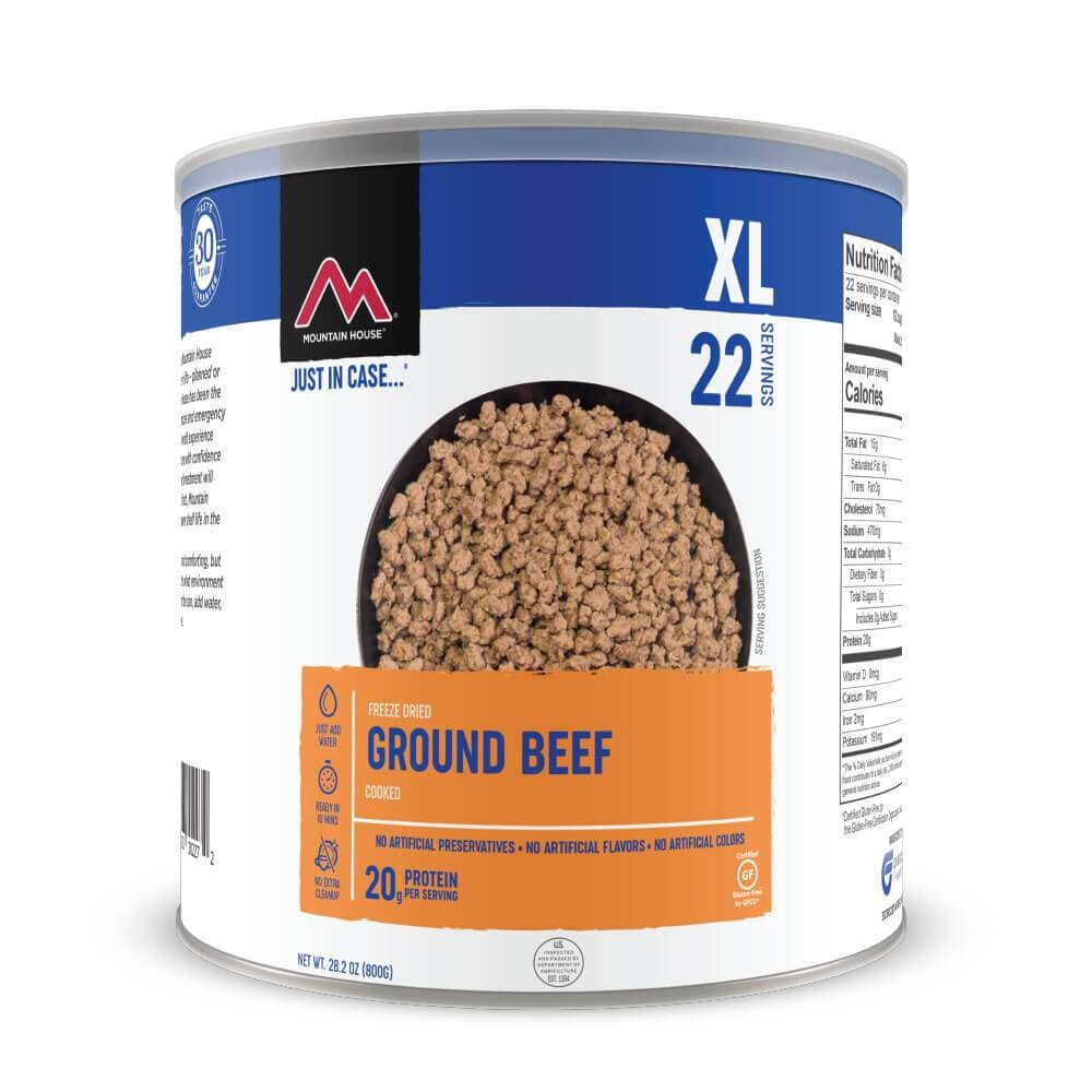Mountain House Ground Beef Freeze Dried Food For Long Term Storage and Emergency Preparedness, Outdoor Camping And Hiking #10 Can 1 Can CLEAN LABEL