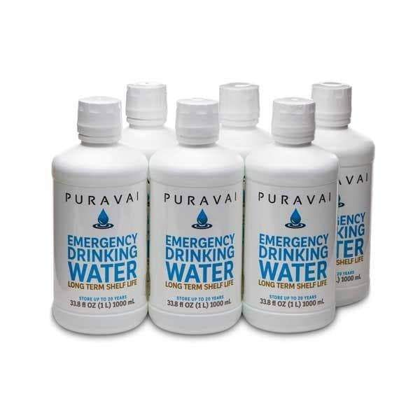 Puravai Emergency Water Storage (Pack of 6)  **CERTIFIED 100% BACTERIA FREE**/20 year shelf life