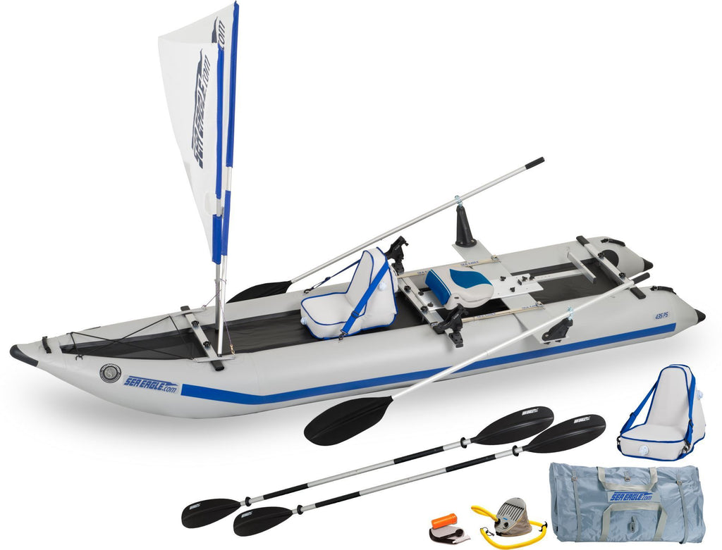 Sea Eagle 435ps Paddleski™ Inflatable Kayak (QuikRow 4-in-1)