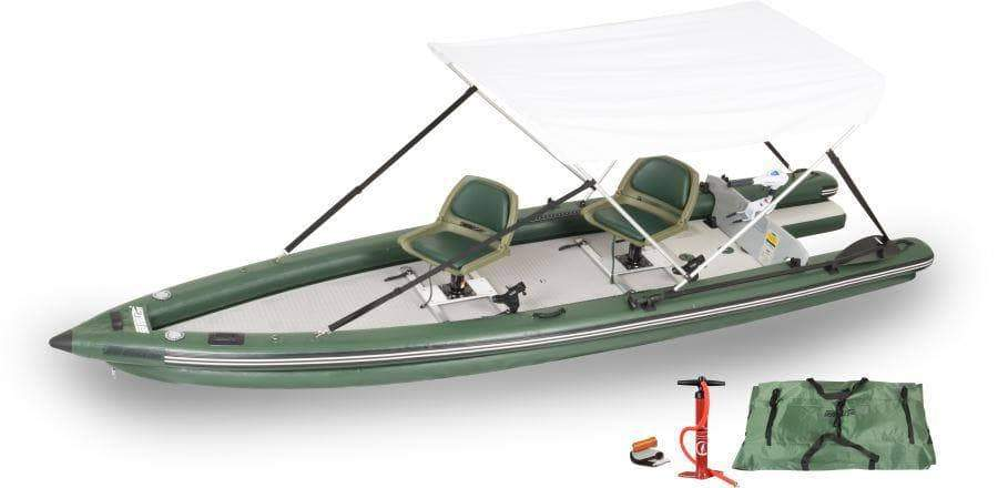 Sea Eagle FSK16 Inflatable Fishing Boat (WaterSnake Motor Canopy)