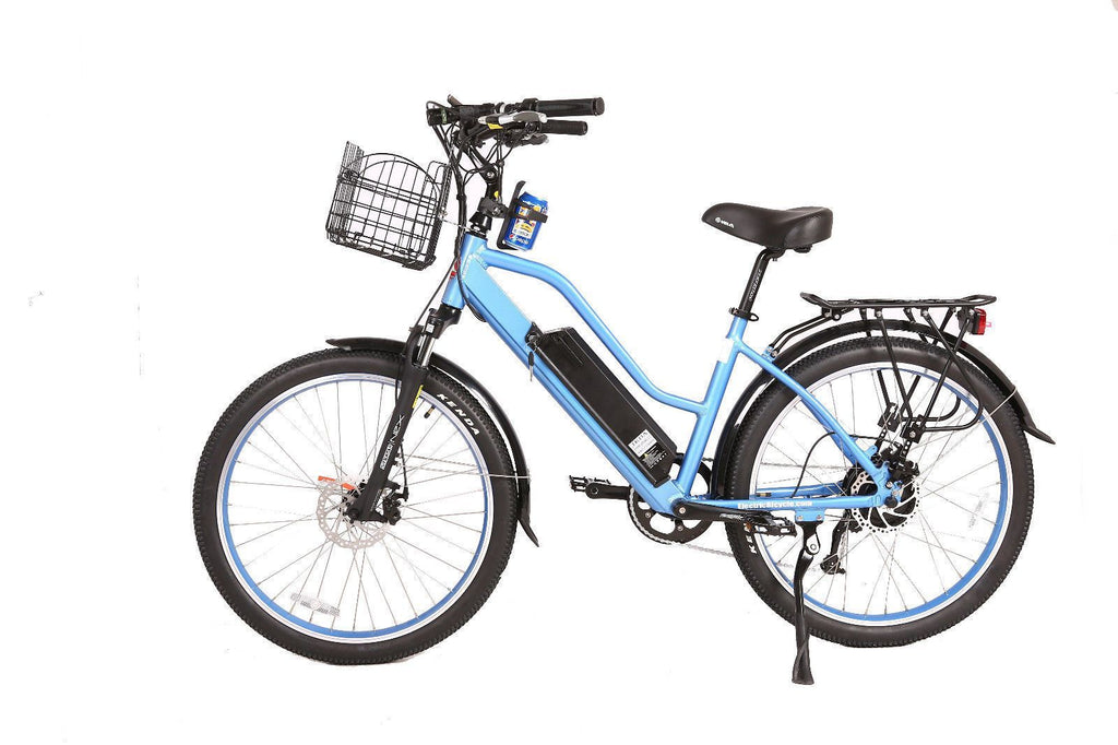 X-Treme Bikes & Fitness Blue X-Treme Scooters - Catalina 48V 500W Lithium Ion Beach Cruiser Electric Bike