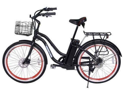 X-Treme Bikes & Fitness X-treme Malibu Cruiser 300W LiPo4 Electric Bicycle - Black