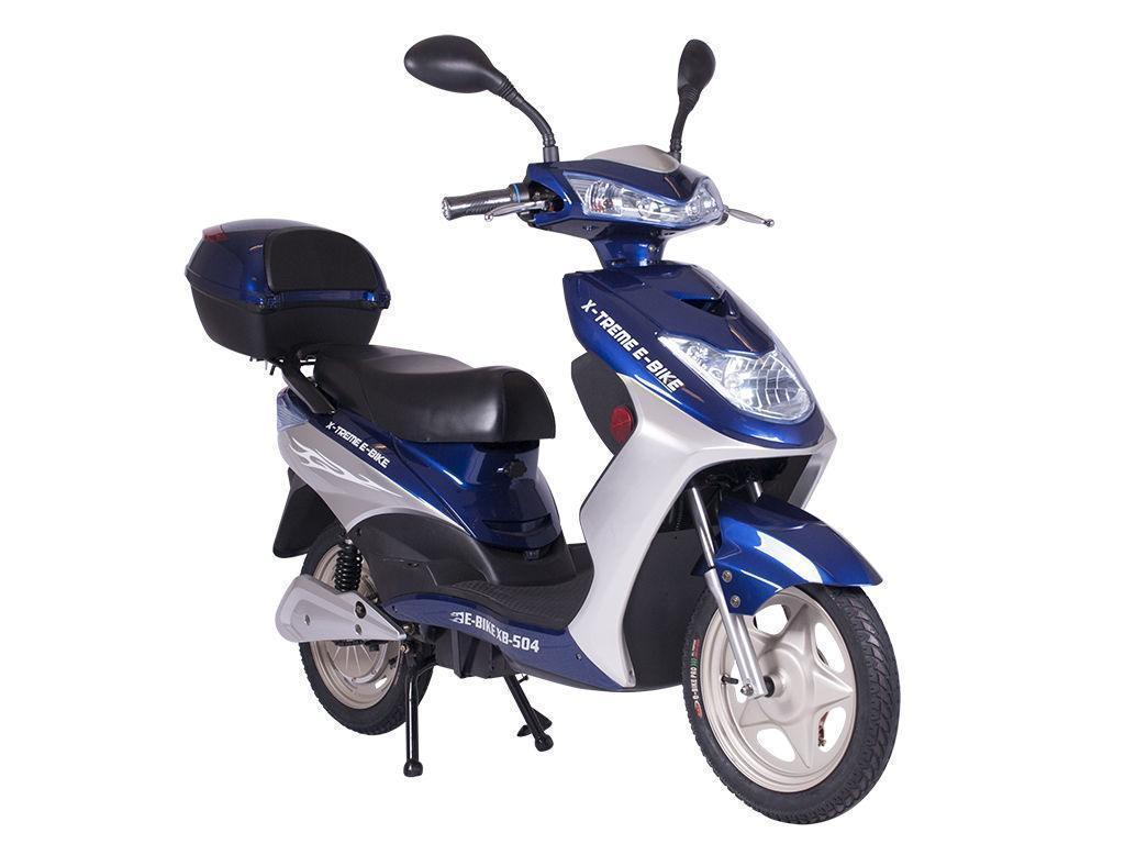 X-Treme Bikes & Fitness X-Treme NEW XB-504 Electric Scooter 48V Rear Hub Power Assist - BLUE