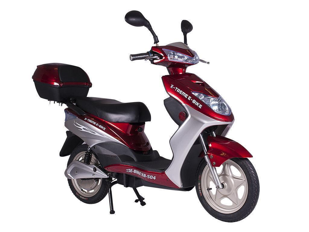 X-Treme Bikes & Fitness X-Treme NEW XB-504 Electric Scooter 48V Rear Hub Power Assist - Burgundy