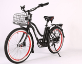 X-Treme Malibu Elite Max 36 Volt Beach Cruiser Electric Bike | SAFECASTLE.
