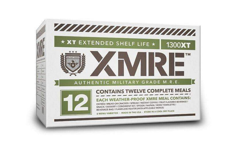 XMRE 1300XT Meal Kit, Case of 6 Meals w/Heater Military Grade