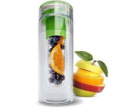 Infuser Water Bottle for fruit/tea with Recipe Ebook - 28 Ounce Twist Cap Style Fruit Infused Water Bottle Made From Tritan Copolyester - Green