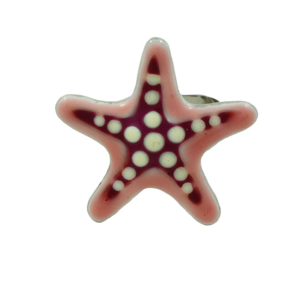 Clearance Ring - Black Enamel and Crystal Adjustable Ring