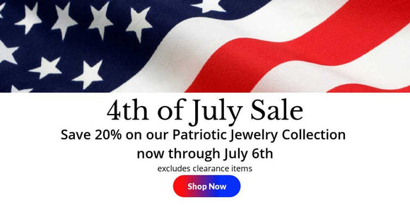 4th of July patriotic jewelry sale