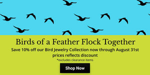 owl hummingbird peacock pin earrings necklaces on sale now