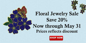 Floral pins, earrings, necklaces sale