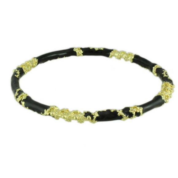 Black Asian Inspired Enamel Bangle - Lilylin Designs