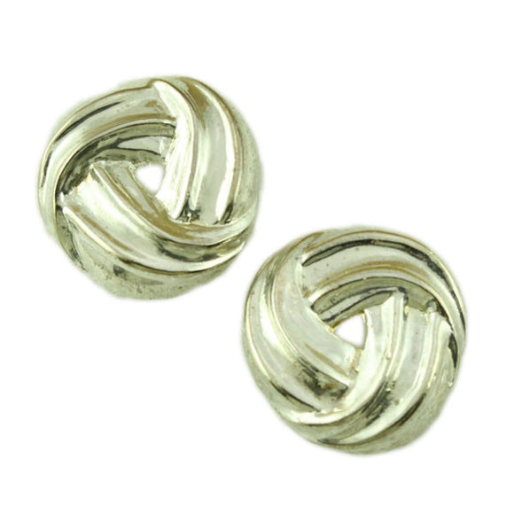 Silver-tone Love Knot Pierced Earring - Lilylin Designs