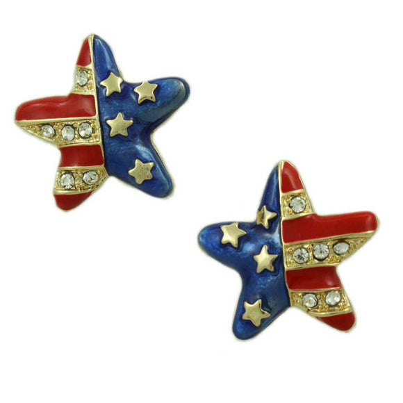 Gold-plated Patriotic Star Earring - Lilylin Designs