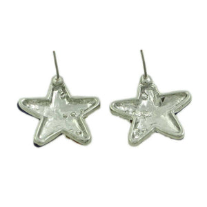 Silver-tone Patriotic Star Earring (back) - Lilylin Designs