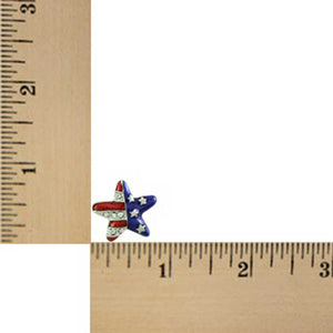 Silver-tone Patriotic Star Earring (sized) - Lilylin Designs