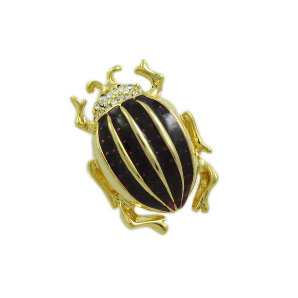 Purple Enamel Beetle Pin - Lilylin Designs